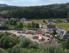 Skład opału & materiały budowlane MITEX widziane z drona